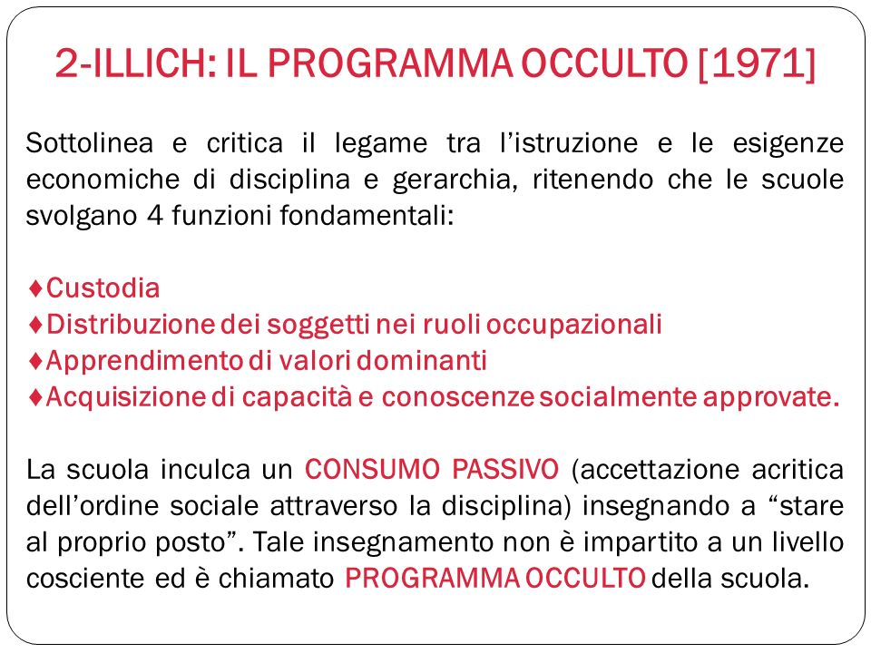 2-ILLICH: IL PROGRAMMA OCCULTO [1971]